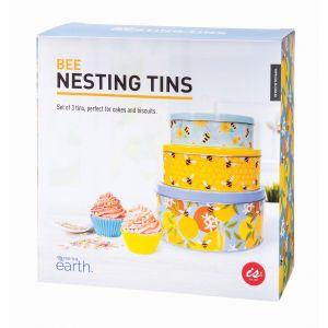 Is Gift Nesting Cake Tins - Bees (Set of 3) Multi-Coloured L:22x10x10cm M:19.7x7x7cm S: 16.8x5.5x5.5cm