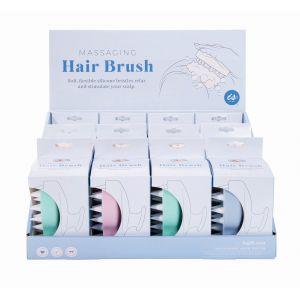 Is Gift Massaging Hair Brush (3 Asst/12Disp) Assorted 9.5x8x7.5cm