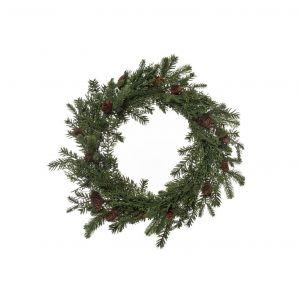 Rogue Pine Wreath Green/Brown 55x20x55cm