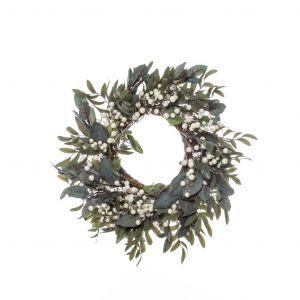 Rogue Leaf Berry Wreath Green 60x15x60cm