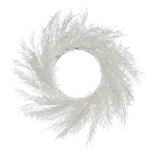 Rogue Pampas Wreath White 76x25x76cm