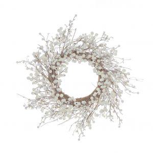Rogue Berry Wreath White 60x15x60cm