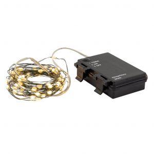 Rogue Super Bright String Light Outdoor Timer LED 60 Bulbs Green 6m