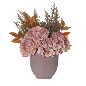 Rogue Dried Bouquet-Orson Pot Pink/Dusty pink 26x23x28cm