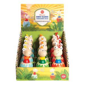Is Gift Dino Babies - Squeaking Eggs (3Asst/12Disp) Multi-Coloured 10x5x5cm