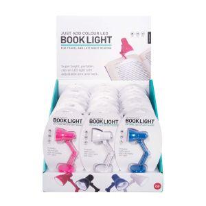 Is Gift Just Add Colour LED Book Light (4Asst/24Disp) Assorted 10.5x4x4cm