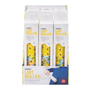 Is Gift Lint Roller - Bees (12 Disp) Multi-Coloured 22x5x5cm