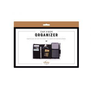 Is Gift Car Visor Organizer Black 27x14.7x1cm