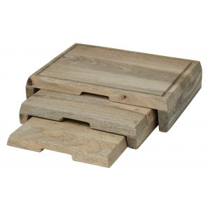 Davis & Waddell Langstead Stackable Board 3pce Natural 49x29x8cm/33x29x5cm/29x28x2.5cm