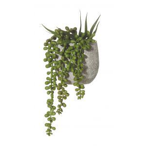 Rogue Hanging Pearls-Tub Pot Green/Grey 13x12x22cm
