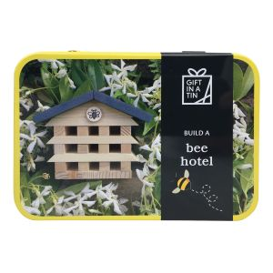 Apples to Pears Build a Bee Hotel in a Tin Wood 14.5x10.5x5.6cm