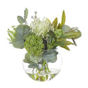 Rogue Native Mix-Glass Fish Bowl Green/Glass 26x26x27cm