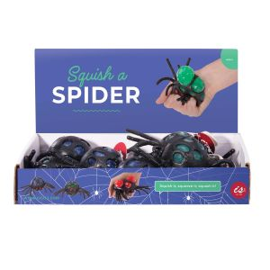 IS GIFT Squish-A-Spider  assorted black with red, green & blue