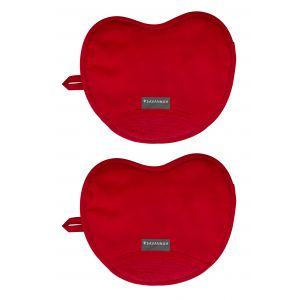 Savannah Safe & Snug Oven Mitts Set/2 Red 24x19x1.5cm