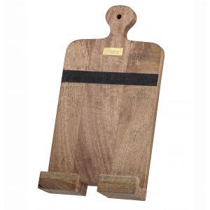 Academy James Tablet/Recipe Holder Natural/Black/Gold 37x18x4.5cm