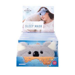 The Australian Collection Koala Sleep Mask (2Asst/18Disp) Grey 17.5x11.5cm