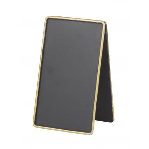 Amalfi Mini Blackboard Black/Gold 9x11cm