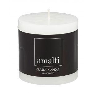Amalfi Classic Unscented Pillar Candle White 7.5x7.5x7.5cm
