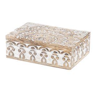 Amalfi Charu Deco Box White Wash 12x17cm