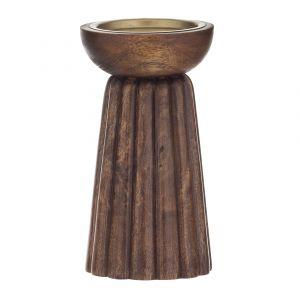Amalfi Parc Pillar Candle Holder Chestnut 9.5x9.5x19cm