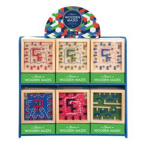 IS GIFT Classic Wooden Mazes  assorted