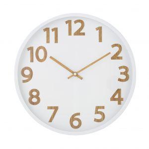 Davis & Waddell Langridge Wall Clock 35.6x4.3x35.6cm White/Natural