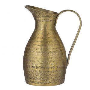 Davis & Waddell Ravi Water Pitcher Antique Gold 14.5x19x23cm/1.8L