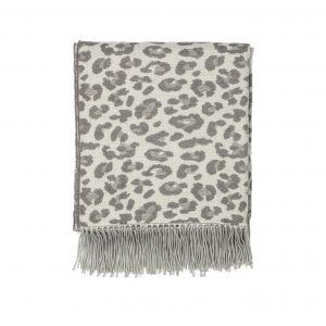 Amalfi Leopard Throw Grey 152x127x1cm