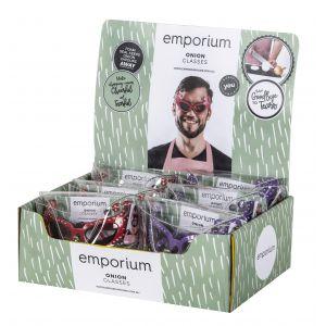 Emporium Onion Glasses 2 Asst Colours 6 Red/6 Purple 5x16x6cm