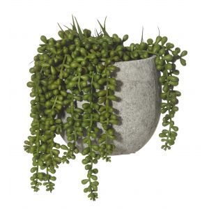 Rogue Hanging Pearls-Tub Pot Green/Grey 18x18x24cm