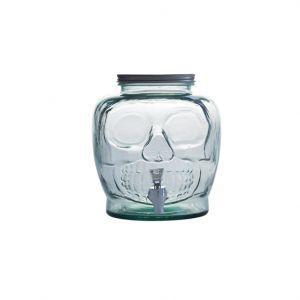 Amalfi Skull Beverage Dispenser with Spout Green 24x24x24cm/7.2L