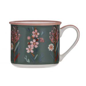 Australiana Wax Flower Mug Green/Multi 9x9x9.5cm/475ml