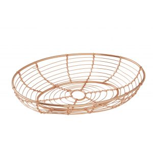 Academy Orwell Oval Serving Basket Metallic Copper 24.5x15x4.5cm