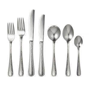 Davis & Waddell Waldorf Cutlery Set 56pce Stainless Steel 8 Table Fork/8 Table Knife/8 Entree Fork/8 Entree Knife/8 Dessert Spoon/8 Soup Spoon/8 Teaspoon