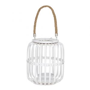 Amalfi Bray Lantern White Wash 21x26x46cm
