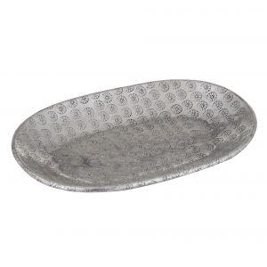 Davis & Waddell Ravi Oval Serving Dish Antique Silver 22x15x2cm