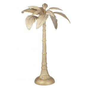 Amalfi Standing Palm Sculpture Gold 20x40.5cm