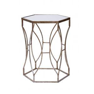 Amalfi Massima Side Table Silver Gilt 46.5x58.5cm