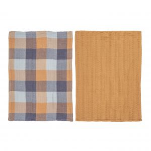 Dylan Double Cloth and Waffle Tea Towel Set/2 CNTTAC01BL