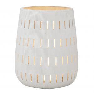 Grand Designs Ellis Table Lamp Cream Wash 35x35x42cm