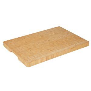 MasterPro Bamboo End-Grain Rectangular Board Medium Natural 38x28x3cm