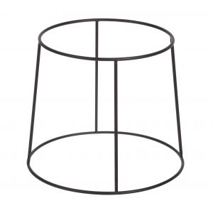 Davis & Waddell Fine Foods Reversible Plate Riser Round Matte Black Top 20x20x20cm/Bottom 24x24x20cm