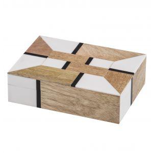 Amalfi Willa Deco Box Natural/White/Black 19x13x5cm