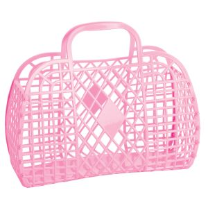 Sun Jellies Retro Basket  - Large Pink 35x30x15cm