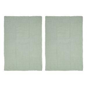 Davis & Waddell Milpa Double Cloth Tea Towel Set/2 Green 50x70cm
