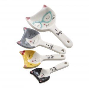 Davis & Waddell Kitty Crew Measuring Spoons Set/4 Multi 11x6x2.5cm