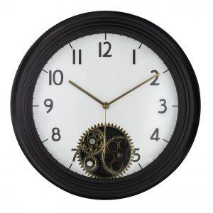 Amalfi Etan Wall Clock White/Black/Gold 38x9.5x38cm