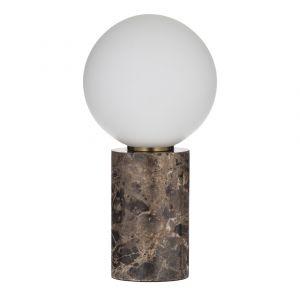 Amalfi Medina Table Lamp Brown/Brass/White 15x15x29cm