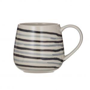 Leaf & Bean Roma Reactive Glaze Mug Coffee/Natural 9.5x9.5x9.7cm/500ml