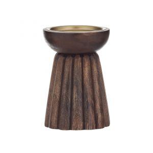 Amalfi Parc Pillar Candle Holder Chestnut 9.5x9.5x14.5cm